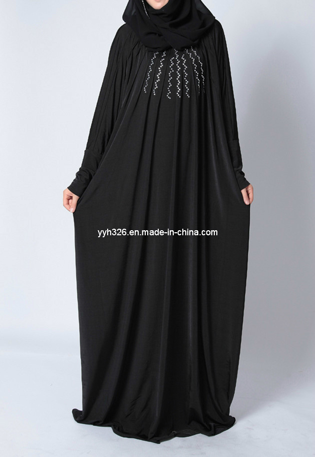 2017 fashion abaya - China Customized Wholesale Elegant Muslim Dress Black