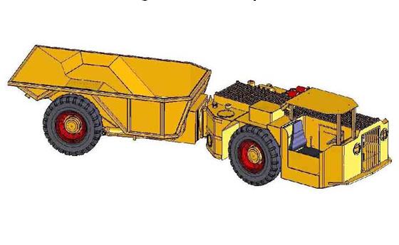 Underground Mining Dump Truck (KU-8) , Underground Truck