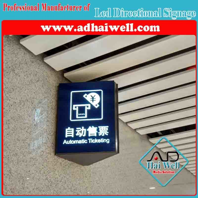 Wall Mounted Acrylic LED Directory Sign Board