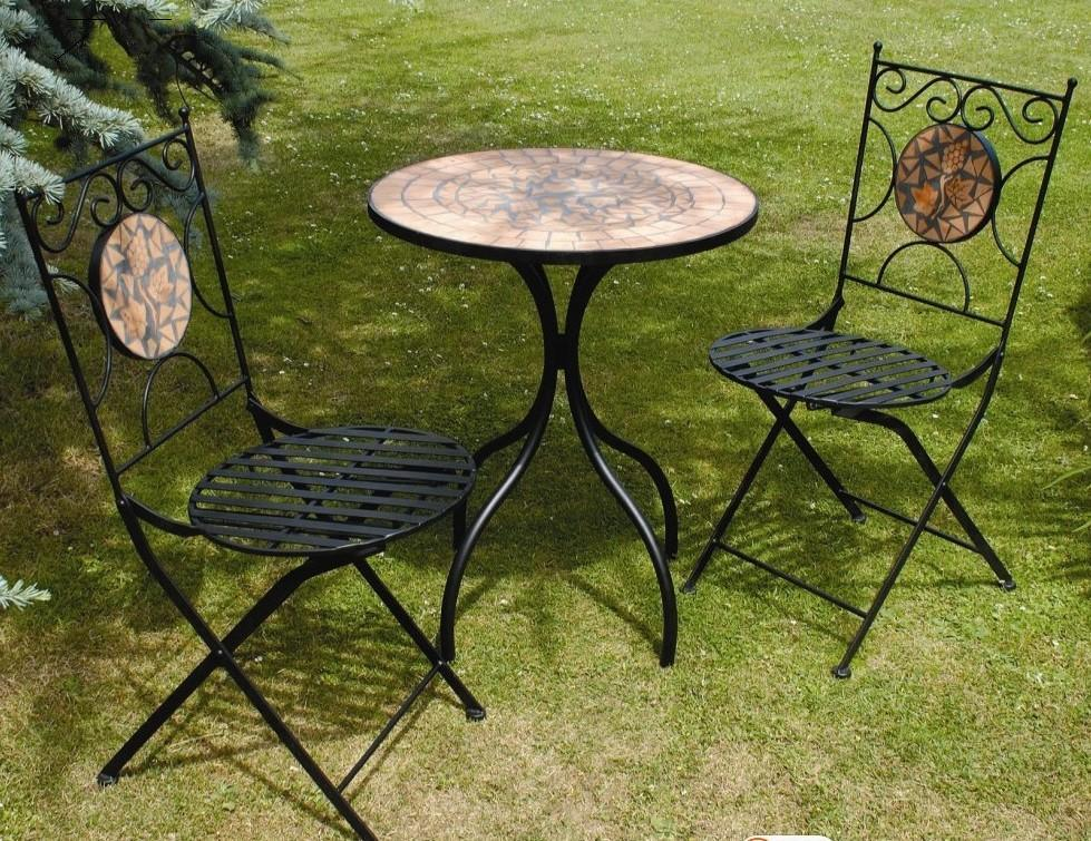 China Outdoor Bistro Mosaic Table and Chairs PL08 1070 s & Picture