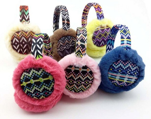 Fashion Colourful Korean Style Fuax Fur Earmuff