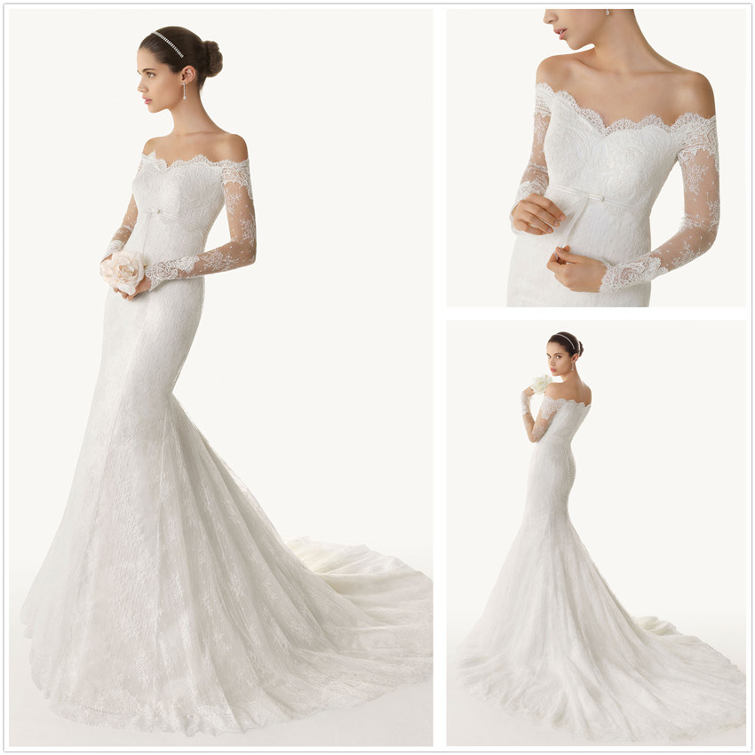 china wedding dress wedding gown evening dress supplier On mermaid off shoulder wedding dress