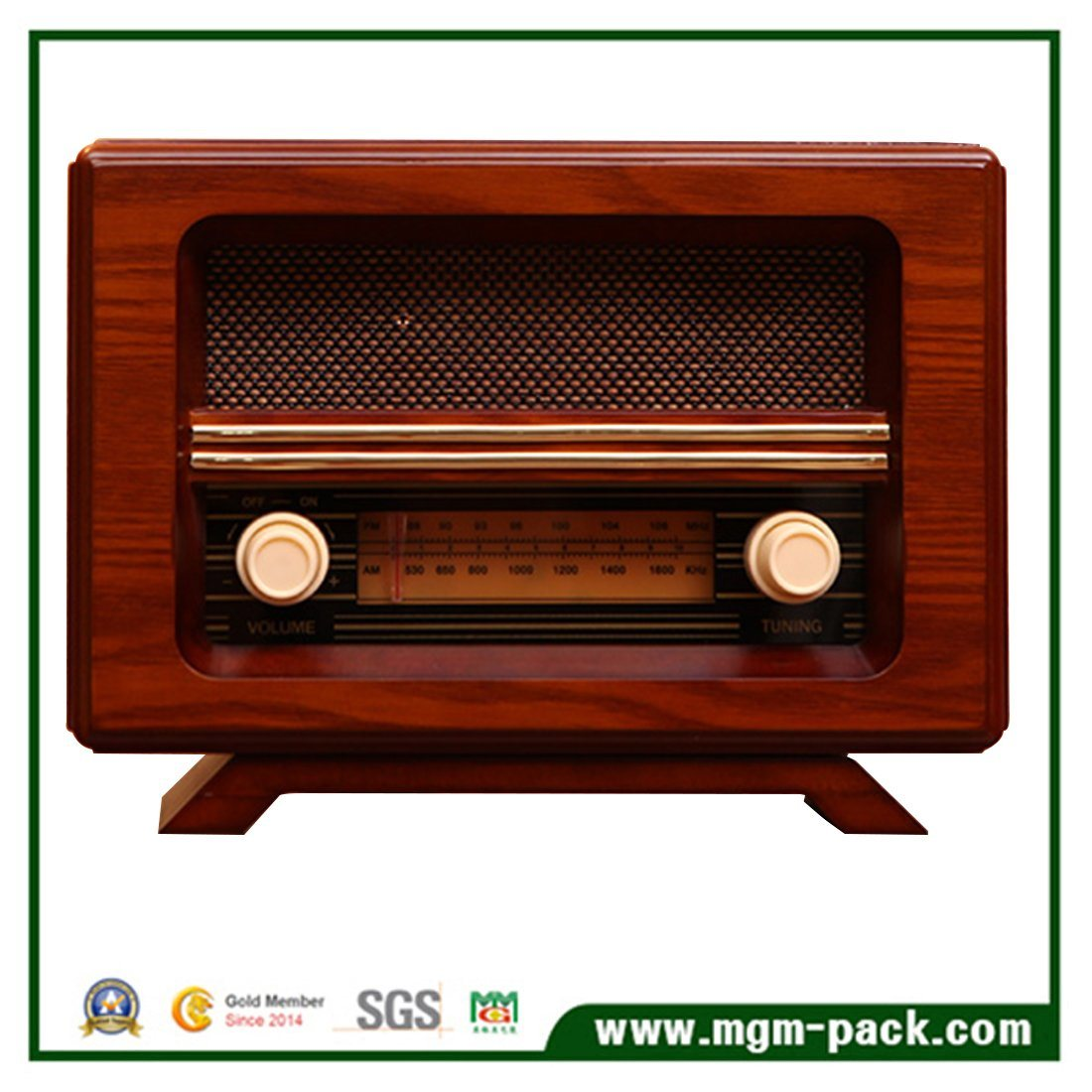 Hot Sale Antique Customized Wooden Radio