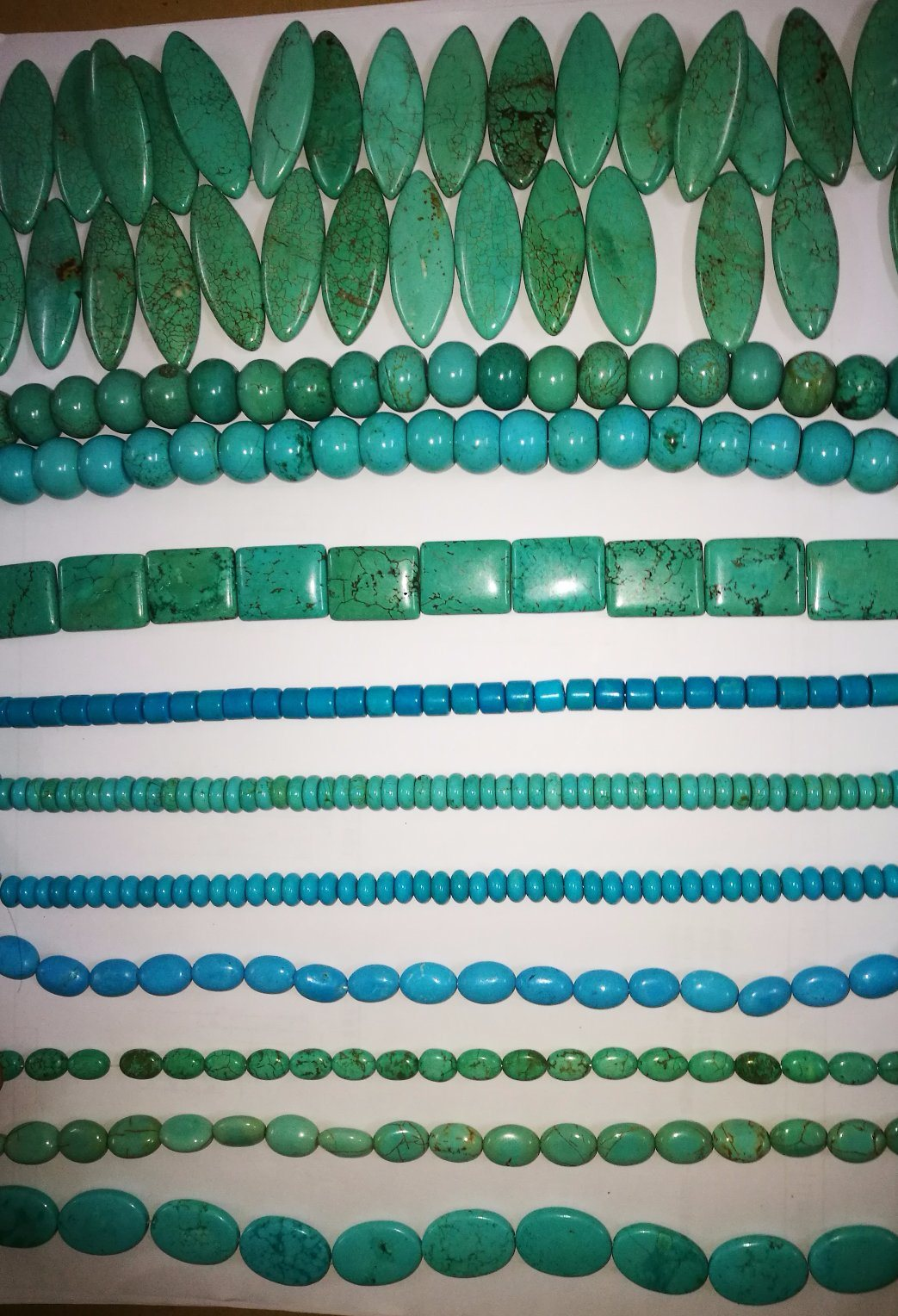 Semi Precious Stone Turquoise Natural Crystal Beaded Necklace