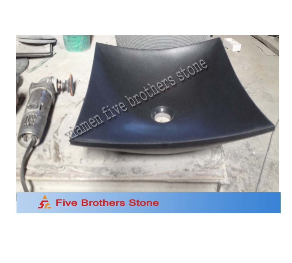 Black Granite Wash Basin Sink for Bathroom Kitchen