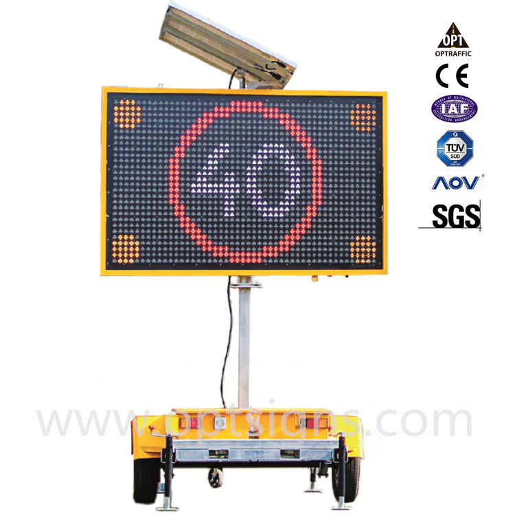 En12966 Certified Portable Solar Powered LED Displays