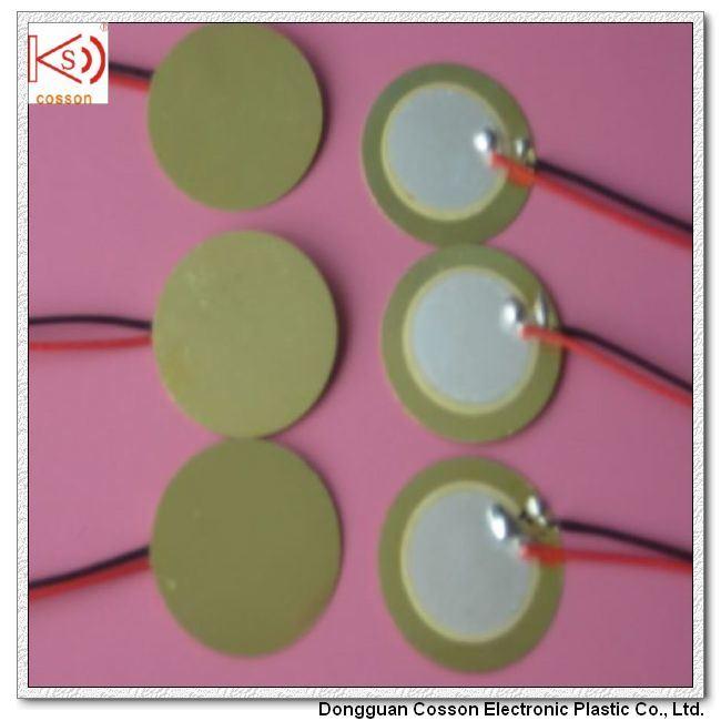 6000Hz Piezo 20mm Brass Disk Element Buzzer