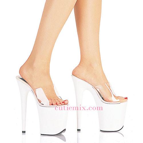 Platformshoes High heels shoes and erotic brunette on the floor