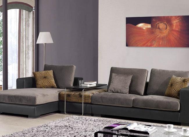 Muebles de la sala de estar sof moderno de la tela del for Ocio muebles