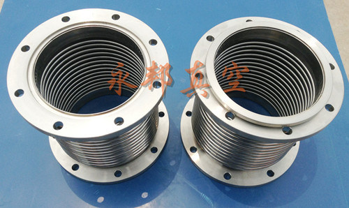 China iso f stainless steel vacuum bellows metal