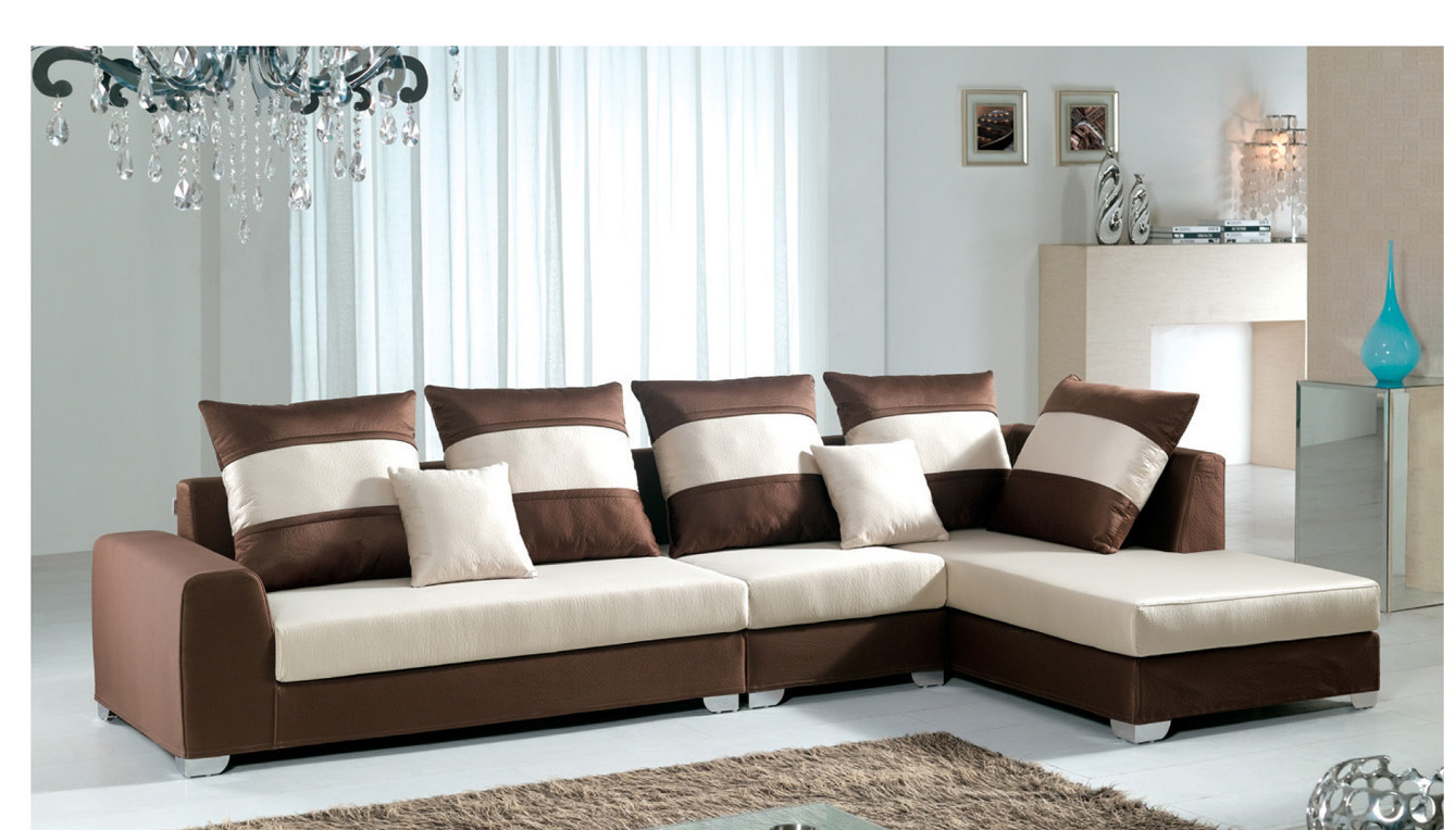 China Brown Color Sofa F8003 3 China Sectional Sofas