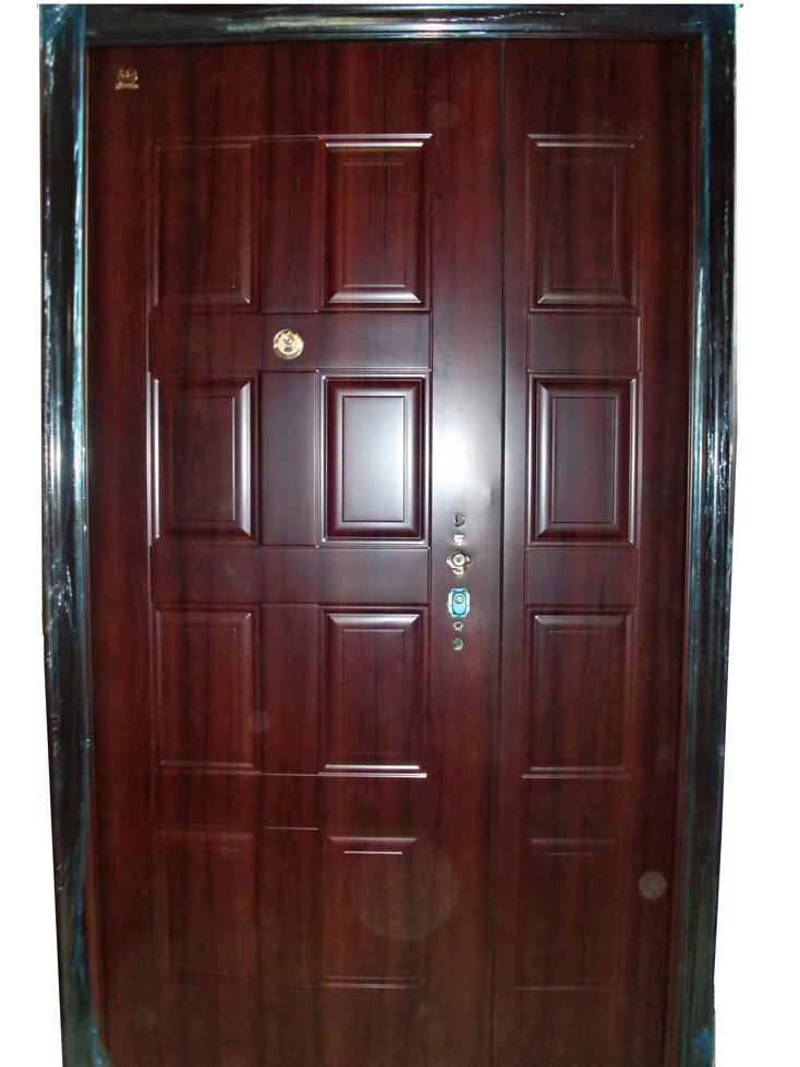 Home entrance door metal entrance door for Exterior double doors