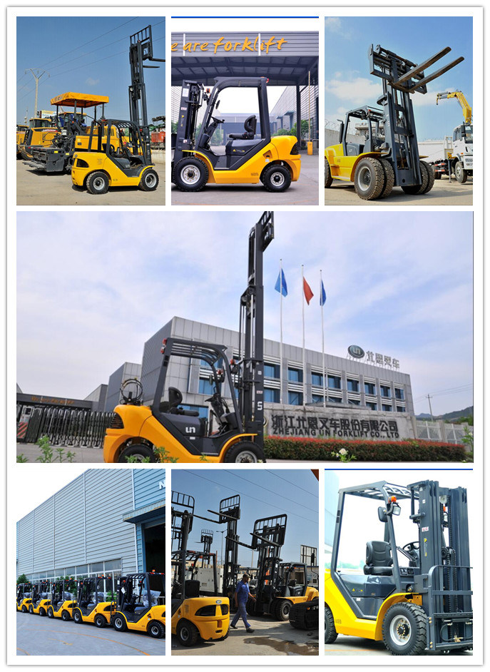 3500kg Un Yellow Diesel Forklift with Reliable Quality