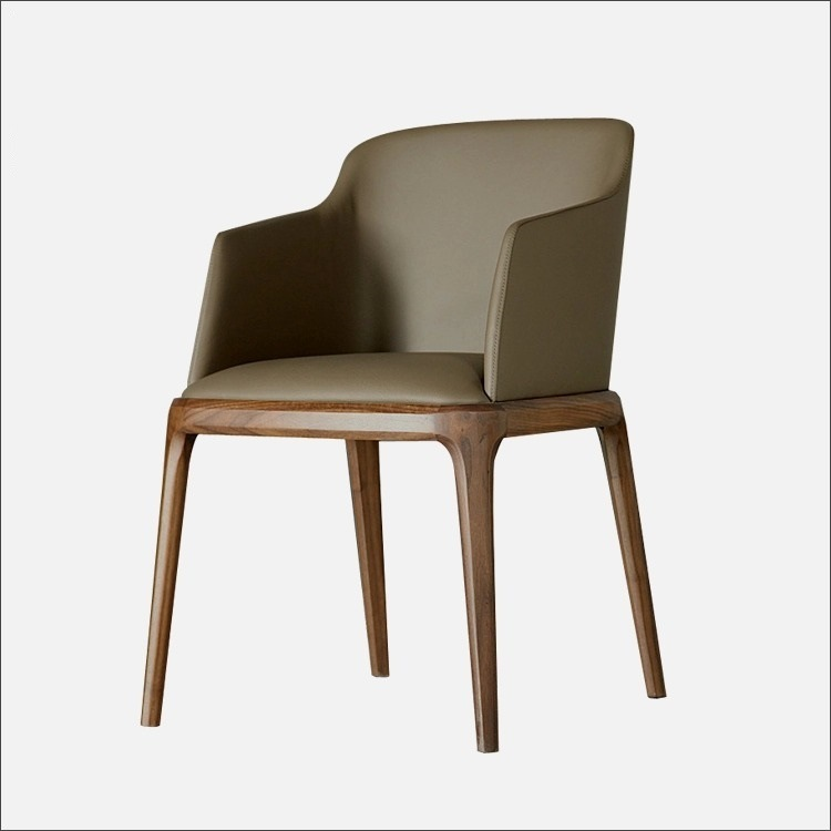 (SD1014) Modern Hotel Furniture Wood Leather Upholstery Restaurant Dining Chair