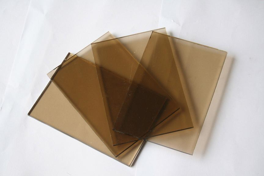 China Tinted Glass Sheet Glass Bronze Colored