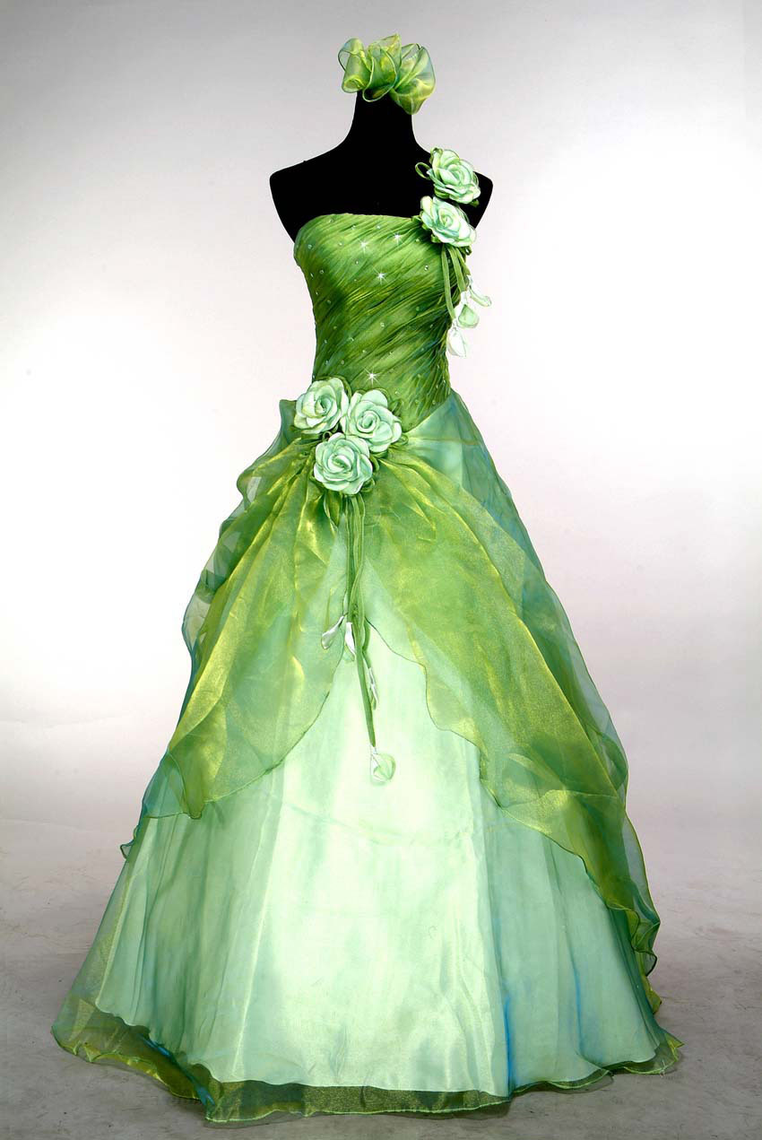 Green Ball Gown Prom Dresses