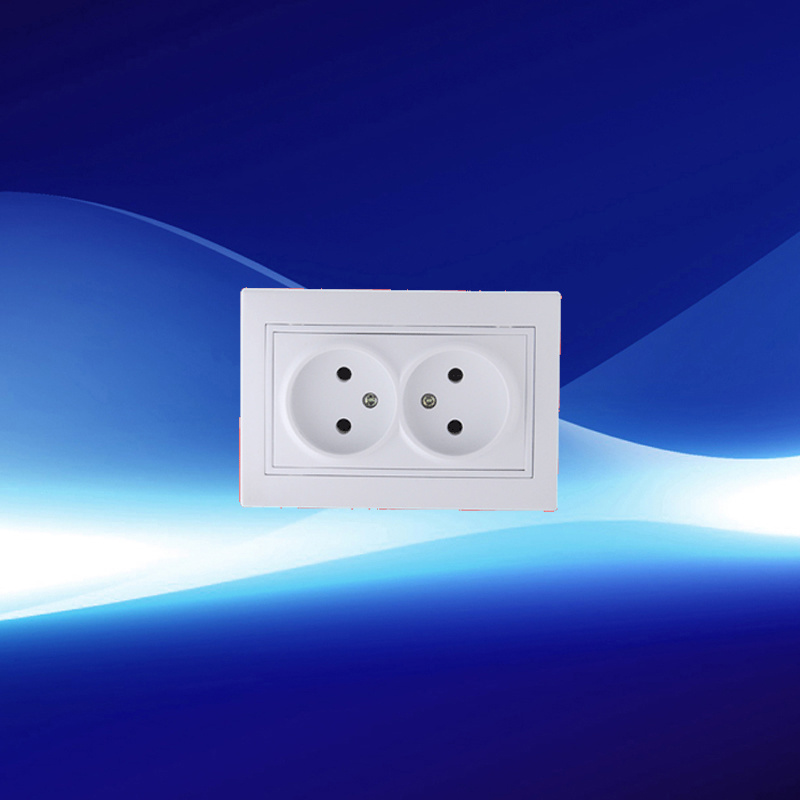Double Non-Earthed Wall Socket