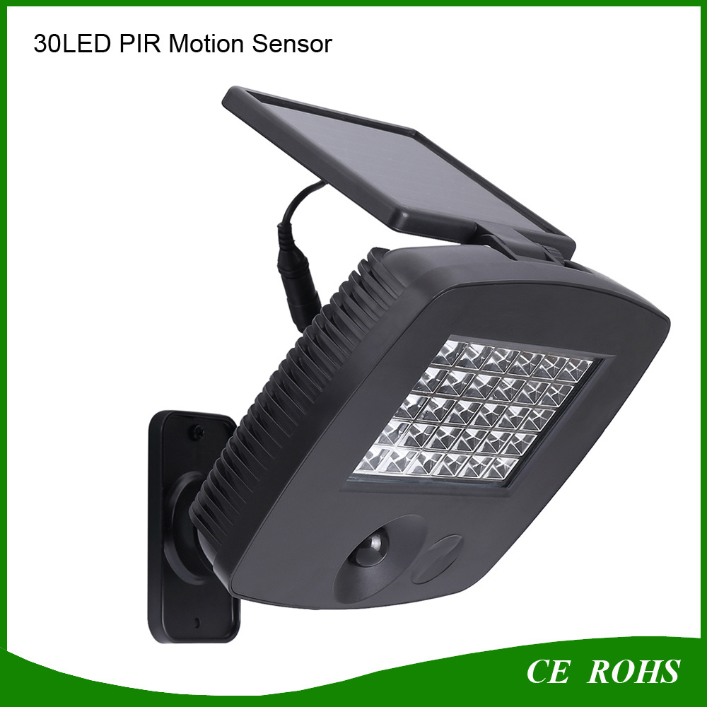 Super Bright 30LED Solar Garden Spotlight for Garage Gate Wall