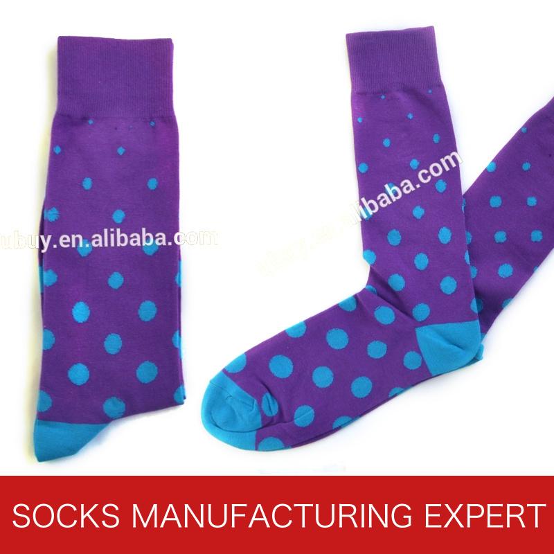 Mens Colorful Cotton Dress Socks (UBM-026)