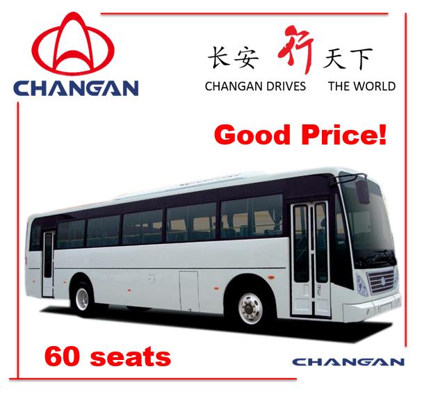 11m Passenger Bus with Competitive Price Tourist Bus Sc6108 60+ Seats