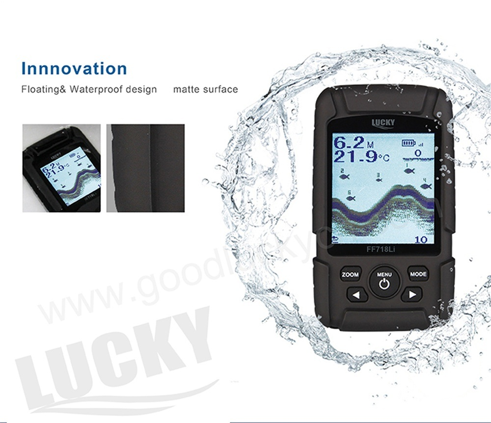 Waterproof Long Range Wireless Sonar Fishfinder (FF718Li-W)