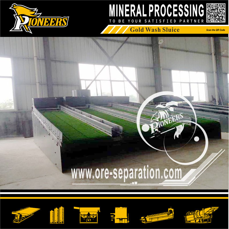 Alluvial Gold Mining Equipment Mercury Amalgamation Plant Gold Concentration Chute