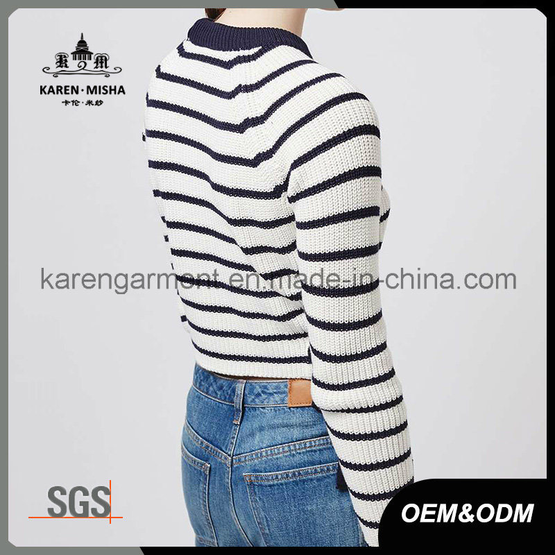 Ladies Side Tie Striped Jumper Fashion Clothes