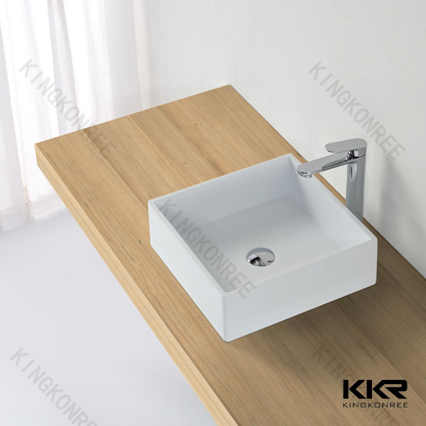 Resin Stone Wash Basin, Square Small Sizes Hand Wash Basin