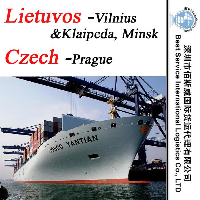 "Sea Transportation Prague (Czech) ; Vilnius, Klaipeda, Minsk (Lietuvos) -20""/40"" Container"