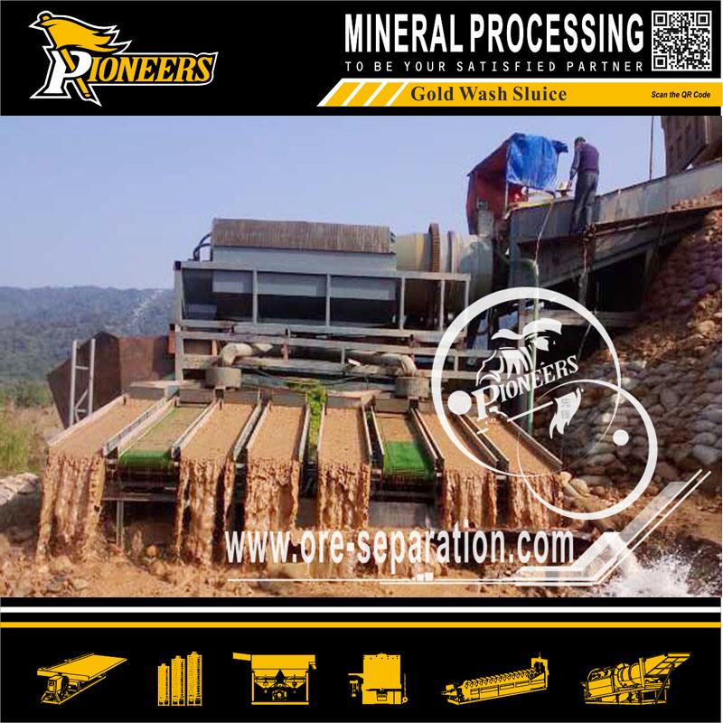Alluvial Gold Mining Equipment Mercury Amalgamation Plant Gold Concentration Chute