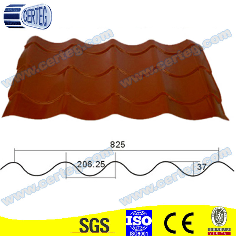 Prepainted Coated Steel Roof Tiles