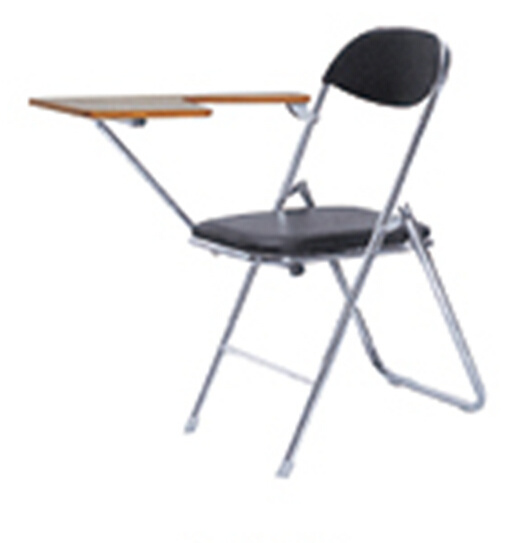 Leather Design Office Folding Chair with Witing Tablet ZD20