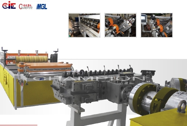 PC/UV Plastic Corrugation Extrusion/Extruder Line/Machine