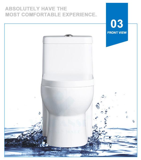 Weidansi Ceramic Wash Down S-Trap One Piece Toilet (WDS-T6113)