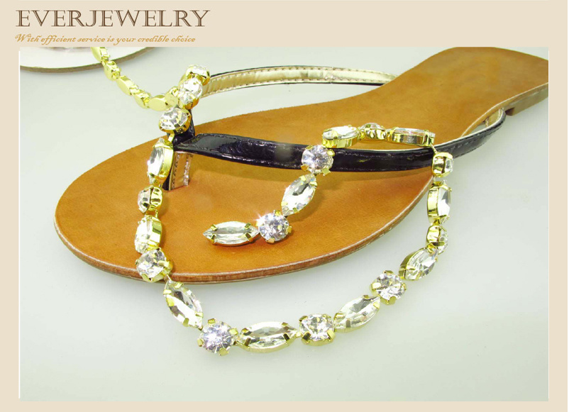 Rhinestone Cup Chain for Slippers, Shoes, Bags Garment