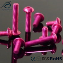 7075 High Strength Colored Anodized Aluminum Screw/Bolts