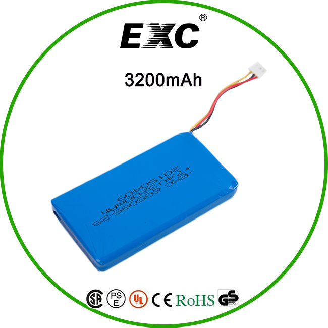 605085 3.7V 3200mAh Lithium Battery Bag for Bluetooth Headset