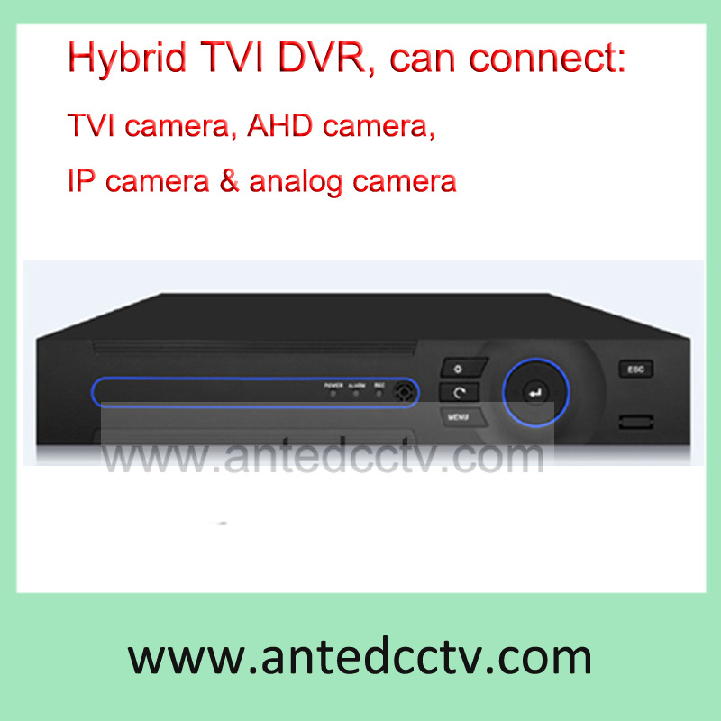 4 Channel 1080h Hybrid HD-Tvi DVR Recorder for CCTV System, Support Tvi, Ahd, Ipc, Analog Camera