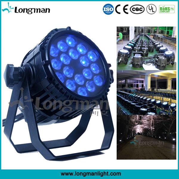 Outdoor Waterproof DMX Light RGBW 18X10W LED PAR Stage Light