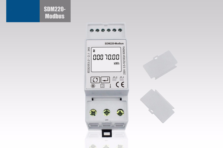 Single Phase RS485 Modbus DIN Rail Digital Energy Meter Sdm220-Modbus