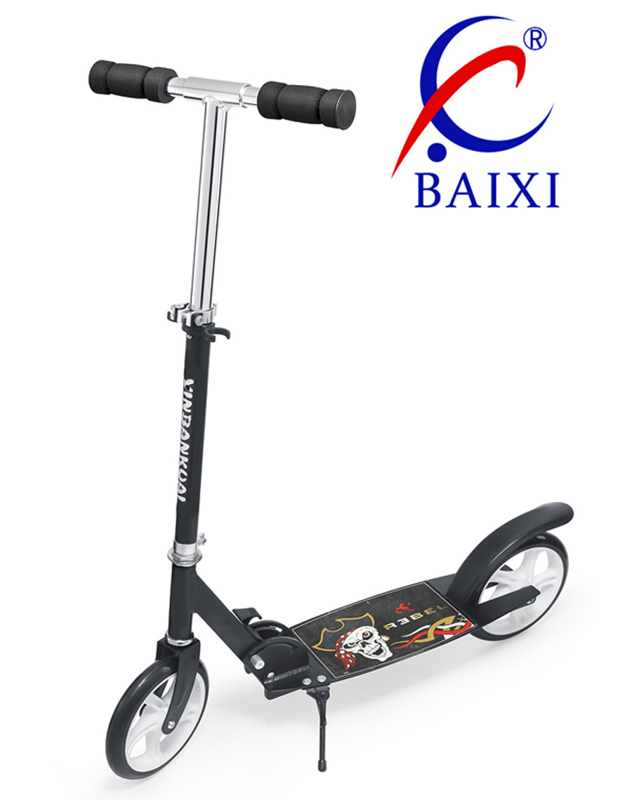 2 Wheel Super Kick Scooter with Iron Stand (BX-2M001-L)