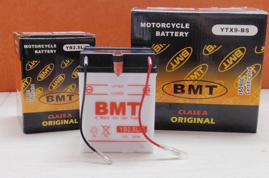 Motorcycle Battery, 6n4b-2A Bmt Lead Acid Battery