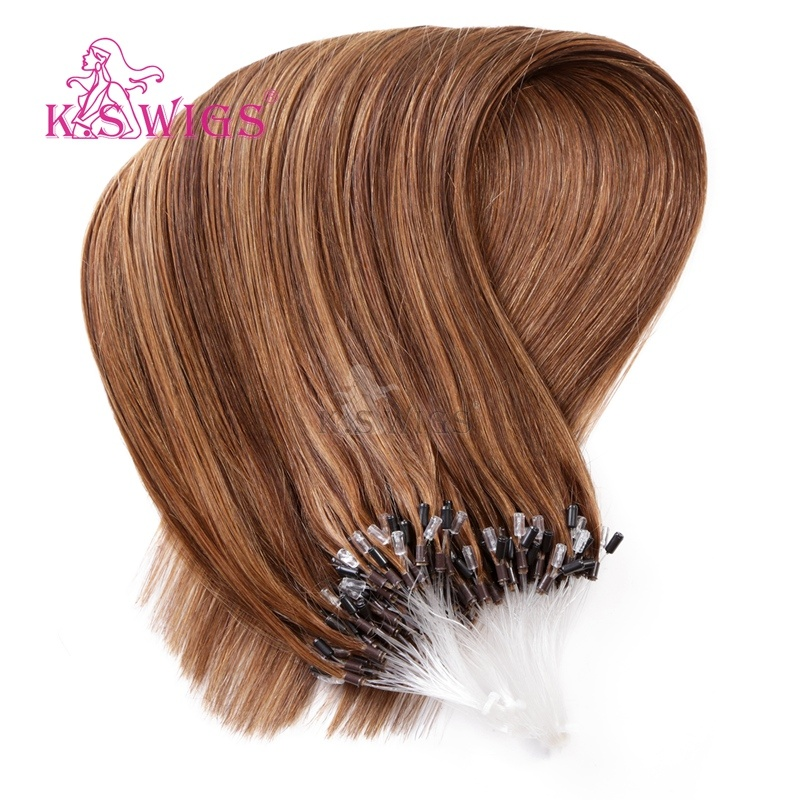 K. S Wigs New Arrival Micro Ring Hair Easy Ring Keratin Human Hair Extension