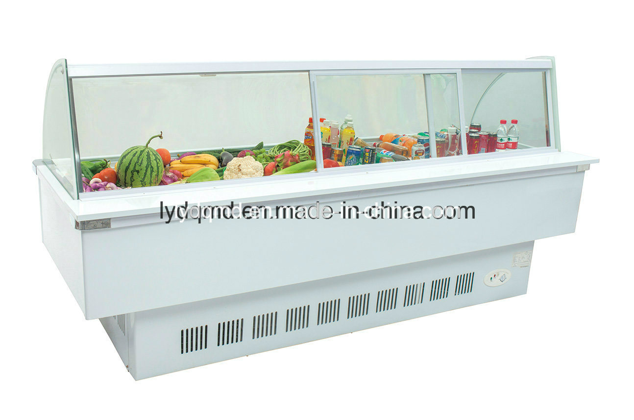 Curved Use Frozen Food Display Cabinet Freezer Sqc-6.0bz