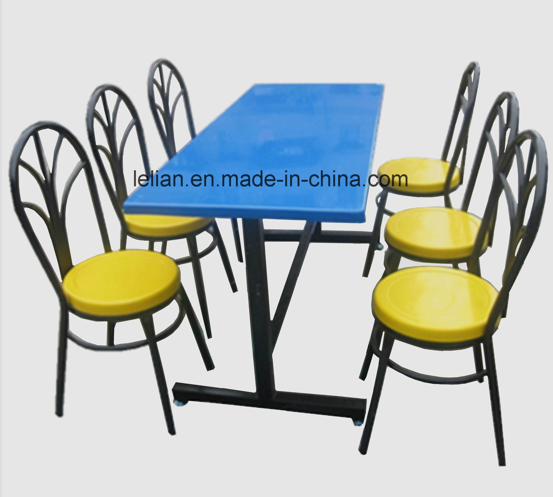 Fiber Glass Dining Table and Chair Set (LL-DST004)