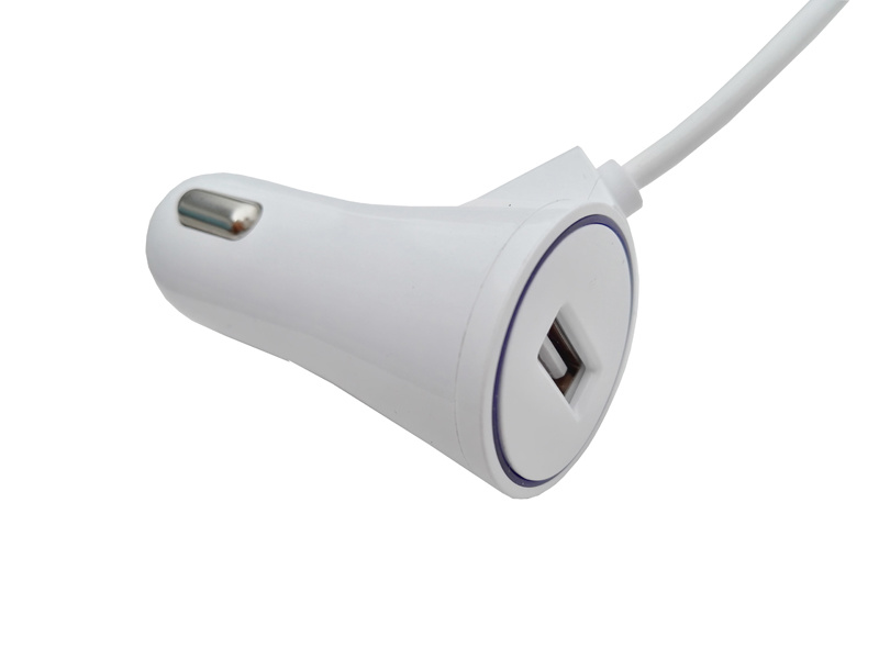 New Design Two Output Car Charger Phone Charger Cell Phone Charger Mobile Phone Charger with Micro USB Cable