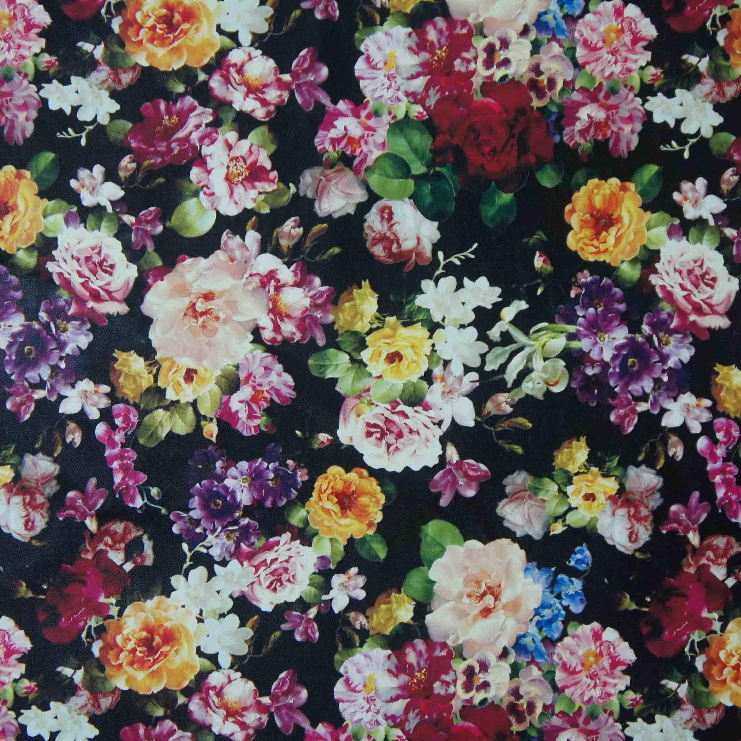 Oxford 600d High Density PVC/PU Flower Printing Polyester Fabric (XLT-FL)