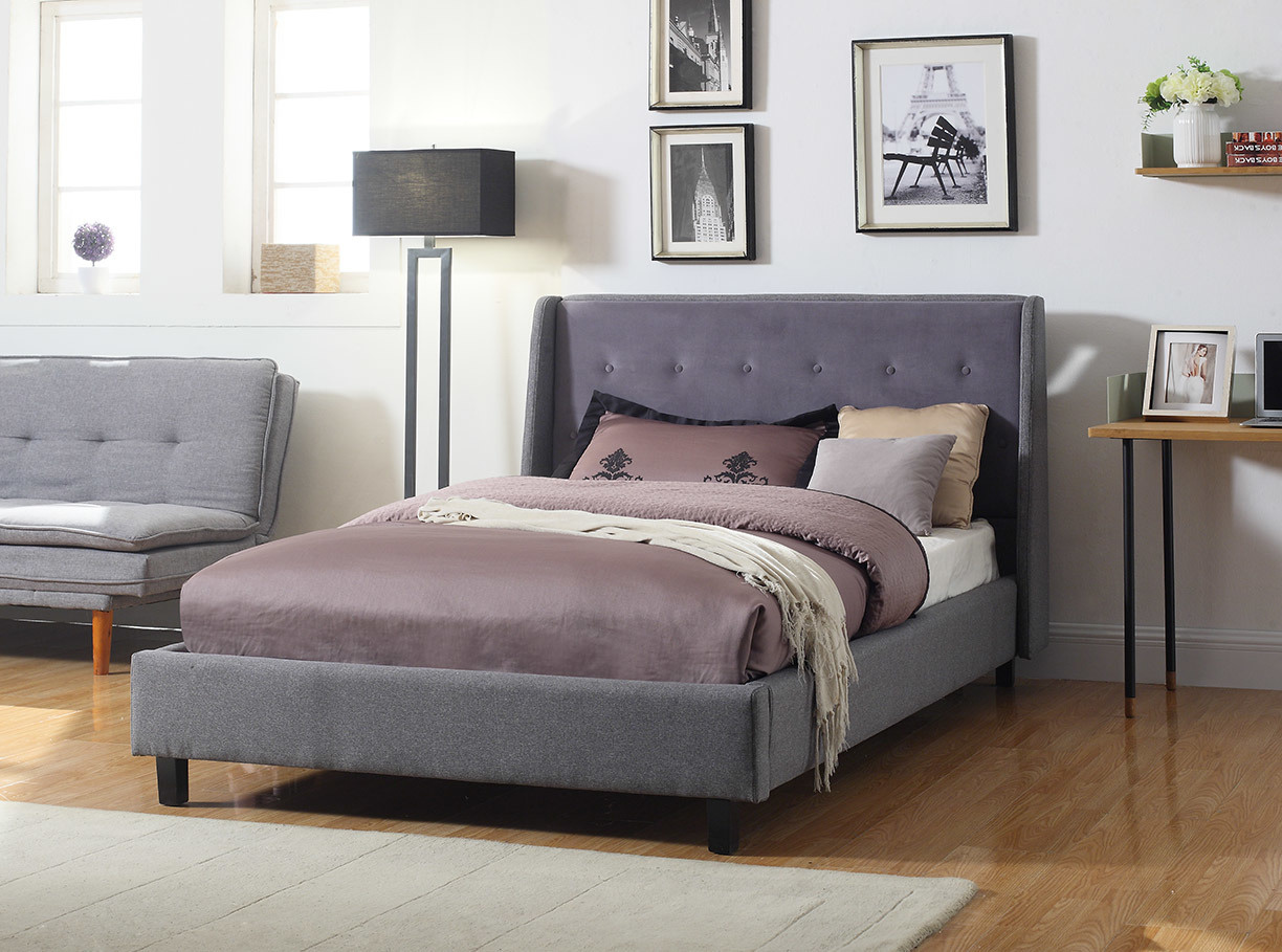 Modern Simple Fabric Home New Design Bedroom Gray Furniture