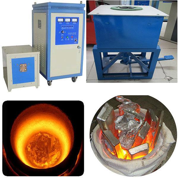 60 Kw 20-30kgs AG Cu Fe Induction Melting Machine