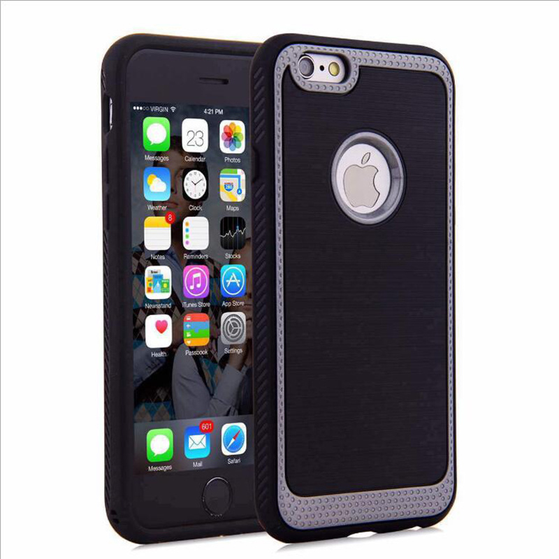 Brushed 2 in 1 PC+TPU Drop Resistance Phone Case for LG K10 K5 K7 Mobile Phone Case (XSEH-016)
